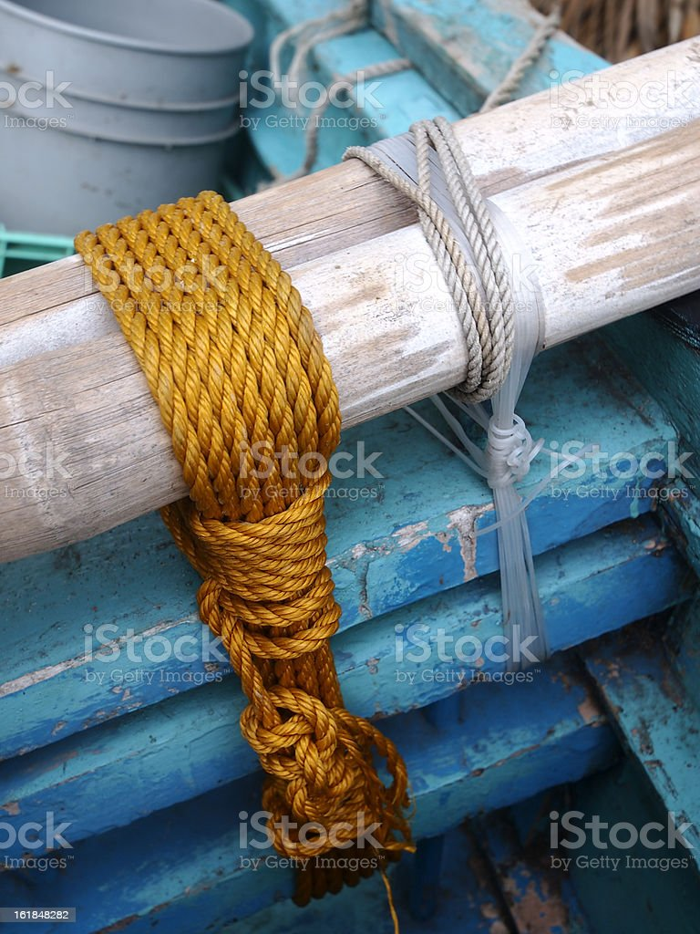 Strapped rope stock photo