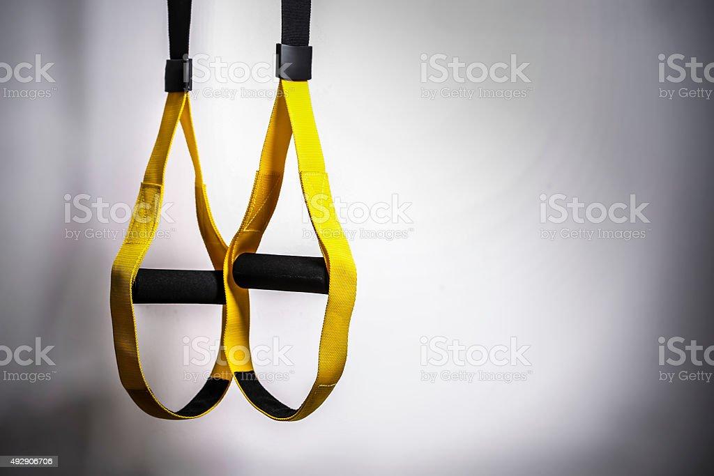 TRX straps stock photo