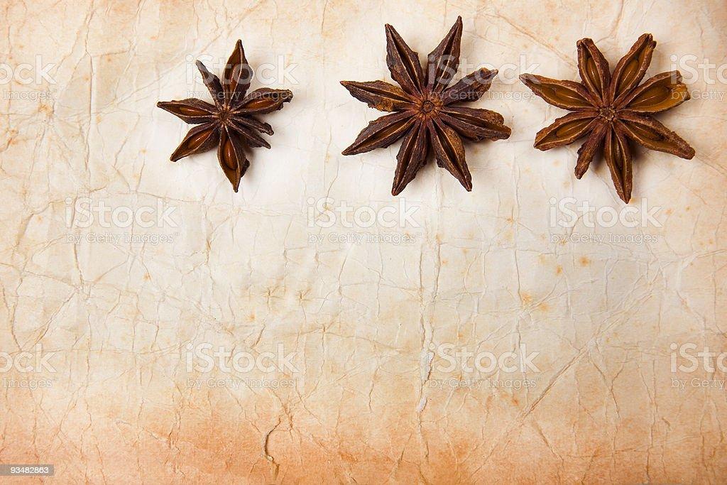 Strar Anise Paper stock photo