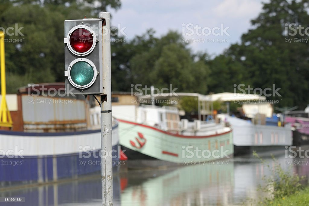 Strasbourg - Canal de la Marne au Rhin stock photo