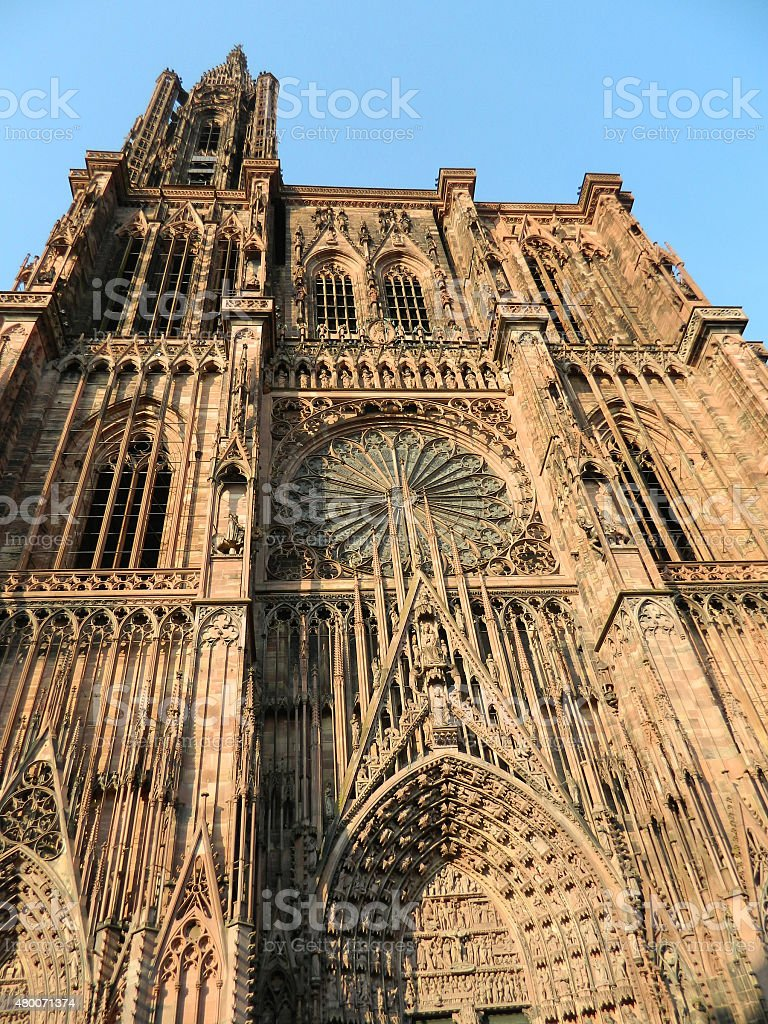 Strasbourg cathedral, France stock photo