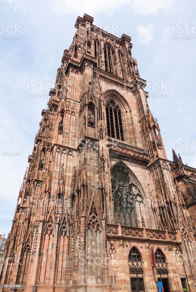 Strasbourg Cathedral (Notre Dame), France stock photo