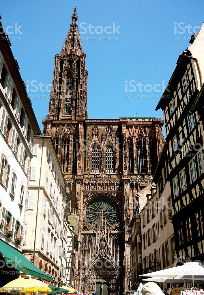 Strasbourg Cathedral on a summers day stock photo