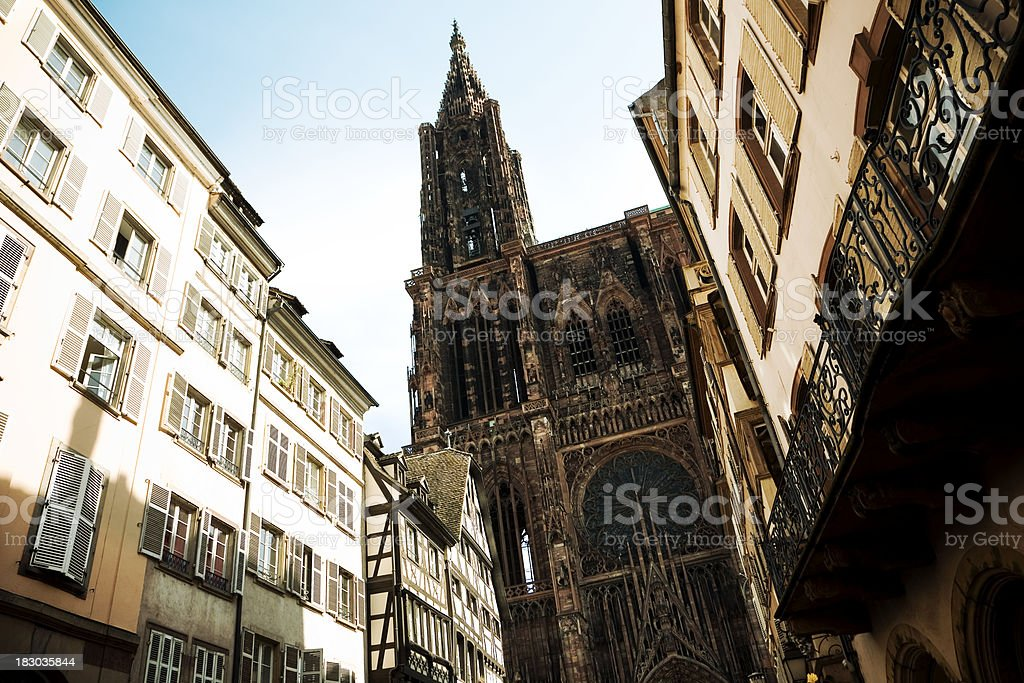 Strasbourg Cathedral royalty-free stock photo