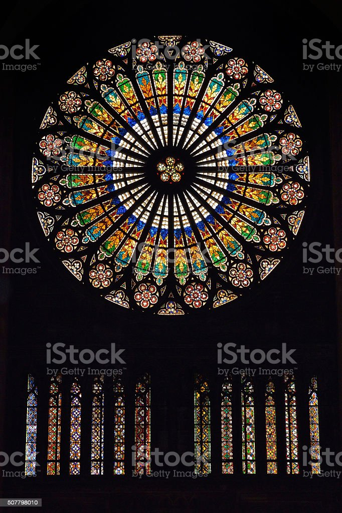 Strasbourg cathedral (France) stock photo