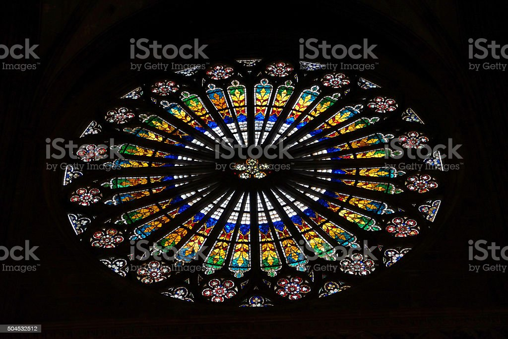 Strasbourg Cathedral - Rose Window stock photo