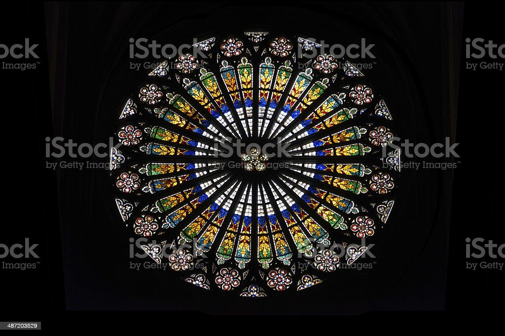 Strasbourg cathedral rosette stock photo