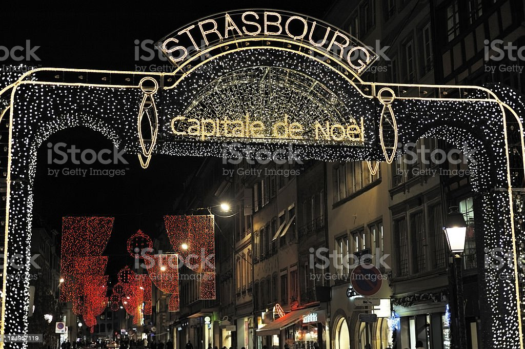 Strasbourg, Christmas Capital stock photo