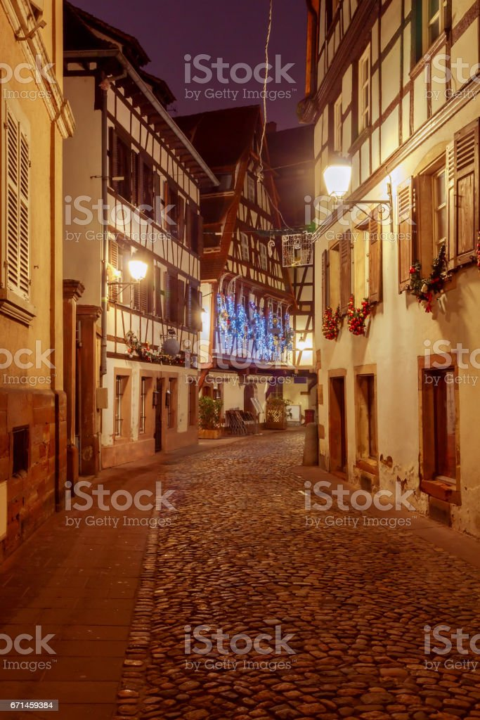 Strasbourg. Petite France district in the old city stock photo