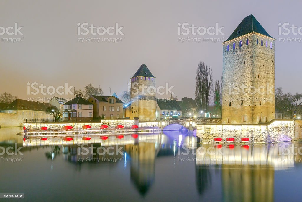 Strasbourg. Quay in the quarter Petite France. stock photo