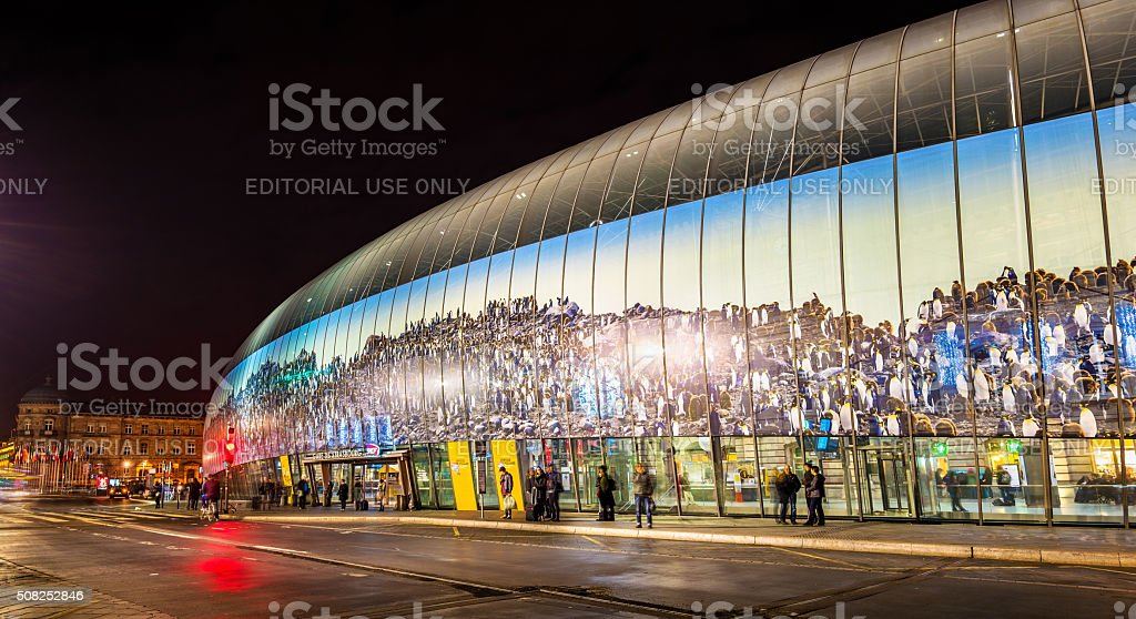 Gare de Strasbourg stock photo