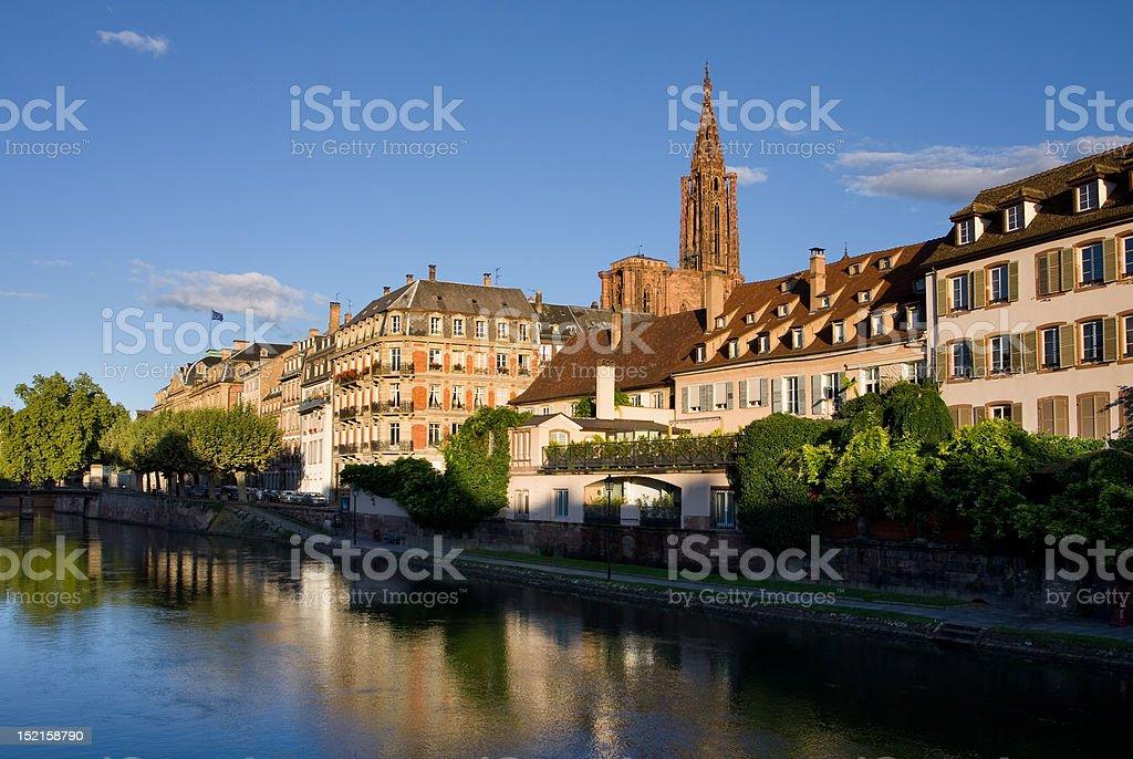 Strasbourg sunrise stock photo