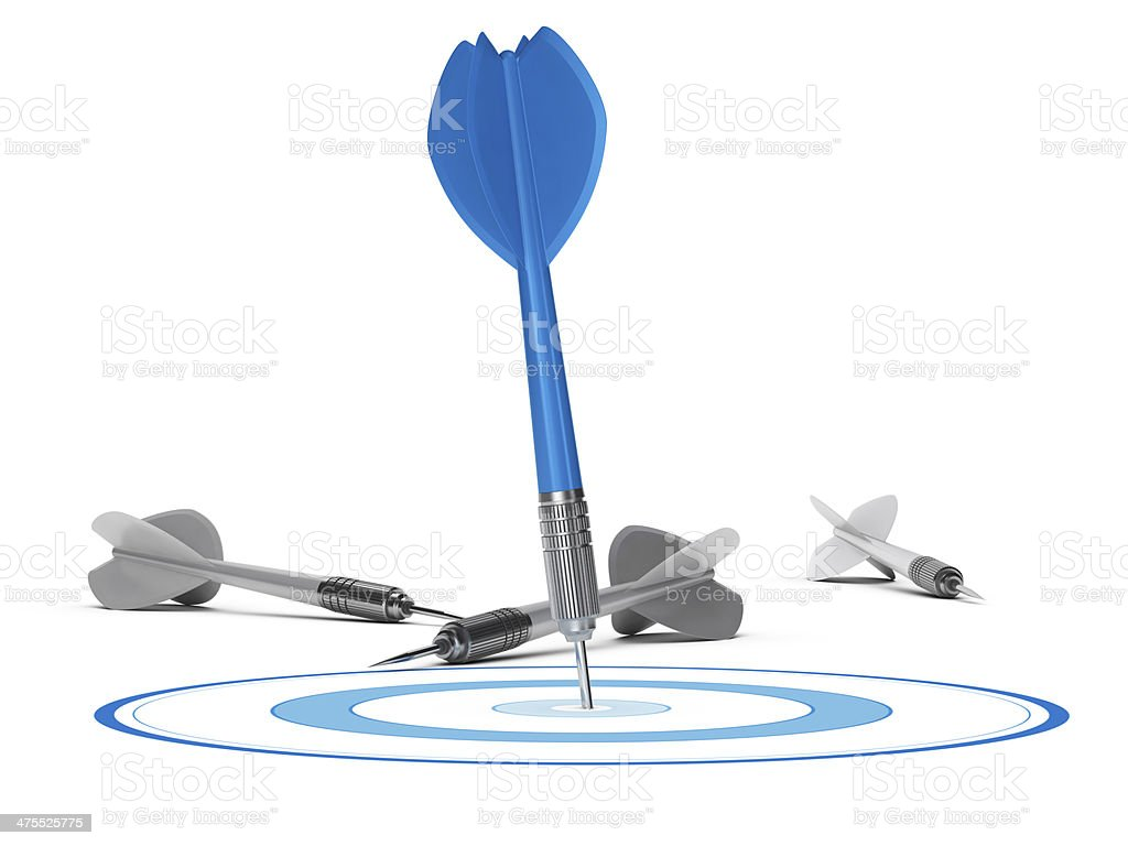Strategic Management Concept - Target and Darts stock photo