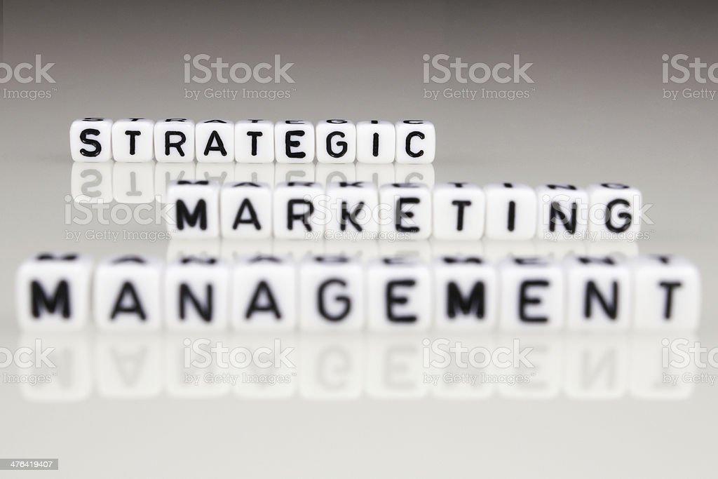 Strategic Marketing Management royalty-free stock photo