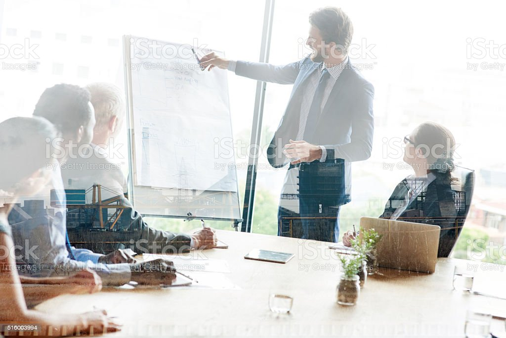 Strategic planning gives them the competitive advantage stock photo