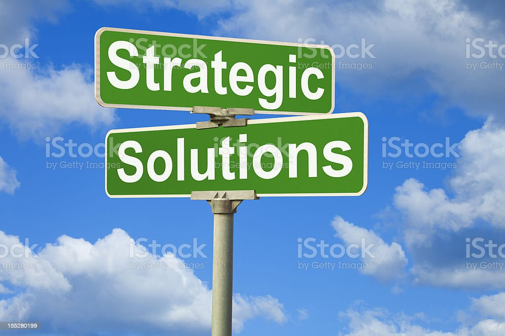 Strategic Solutions Street Sign royalty-free stock photo