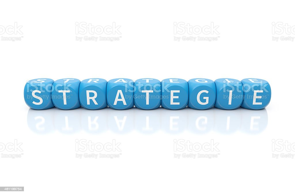 Strategie dices blue stock photo