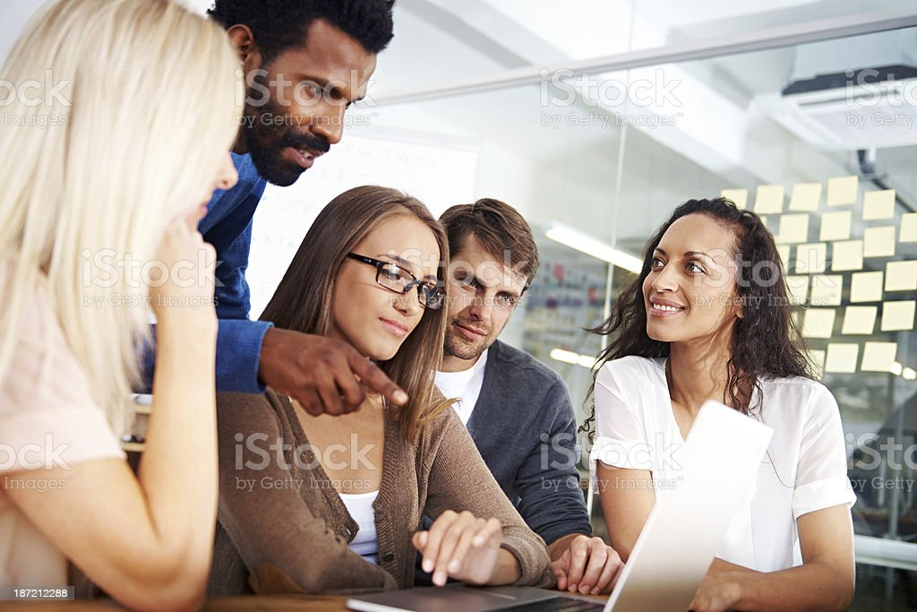 Strategising in the boardroom royalty-free stock photo