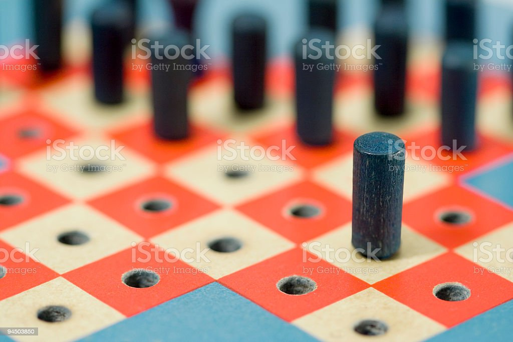 Strategize Antique Peg Game royalty-free stock photo