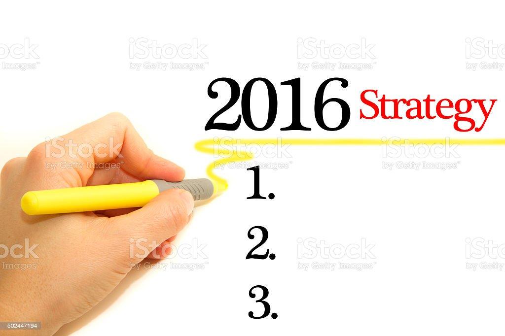 Strategy 2016 stock photo