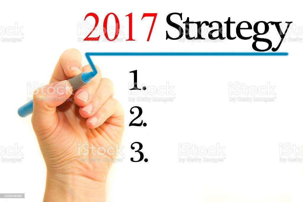 Strategy 2017 stock photo
