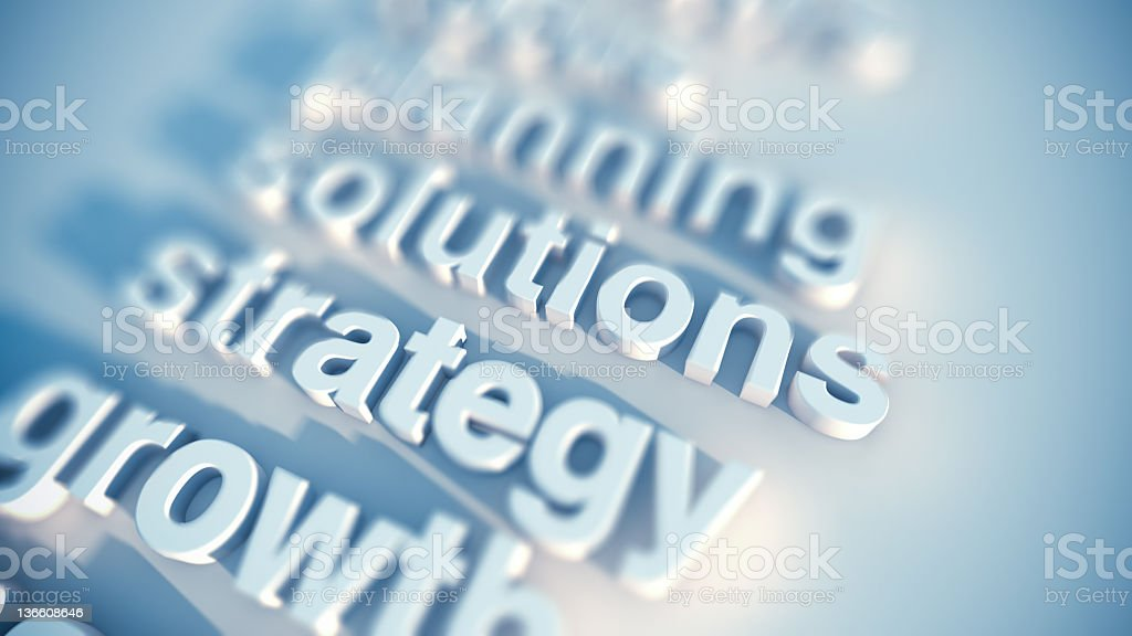 Strategy and business royalty-free stock photo