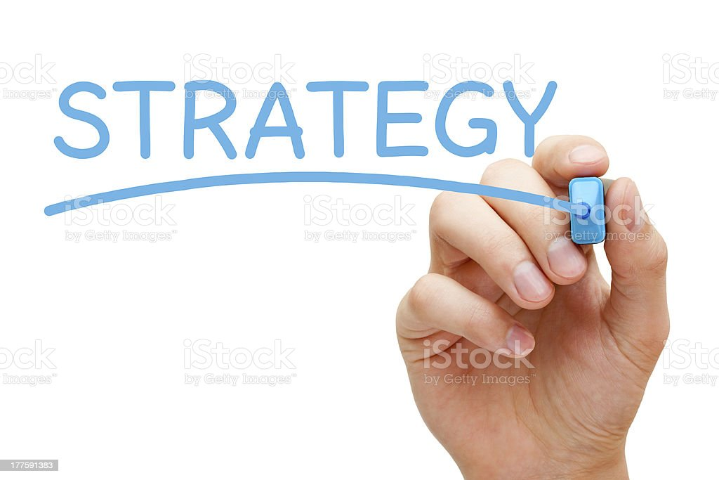 Strategy Blue Marker royalty-free stock photo