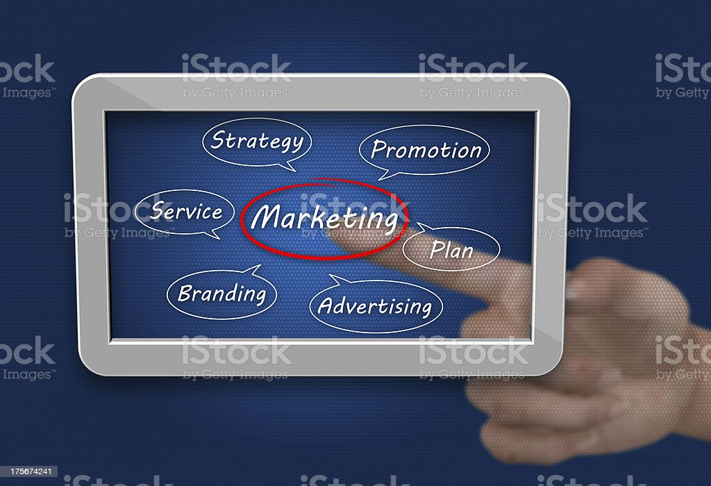 Strategy concept as a background stock photo