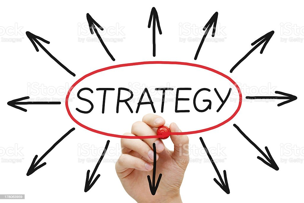 Strategy Concept Red Marker royalty-free stock photo