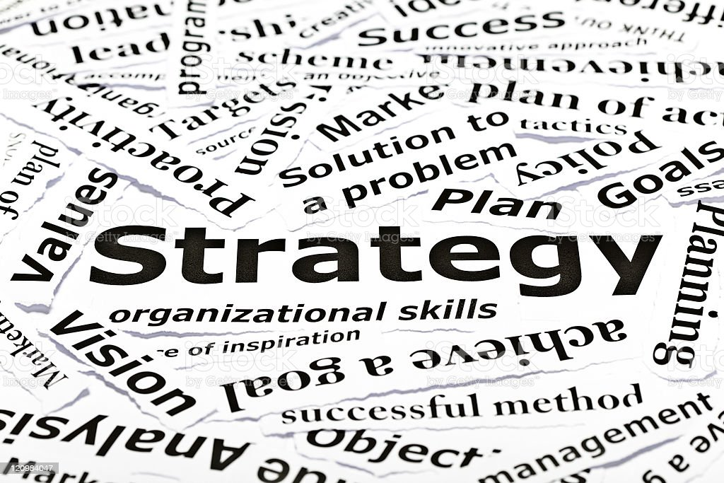 Strategy concept with other related words royalty-free stock photo