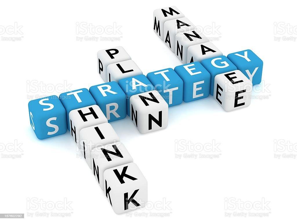 Strategy Crossword royalty-free stock photo