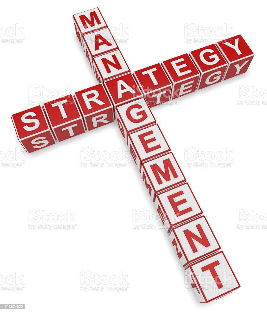 Strategy Crossword stock photo
