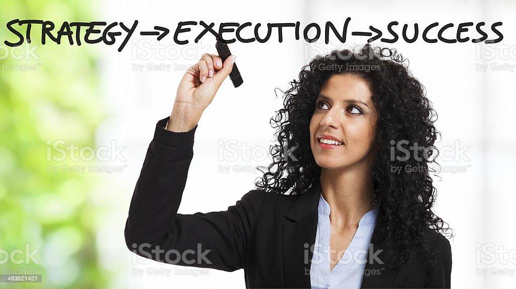 Strategy, execution, success stock photo
