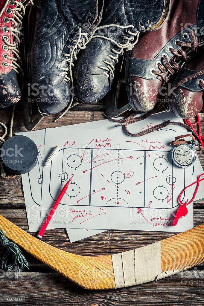 Strategy in hockey stock photo