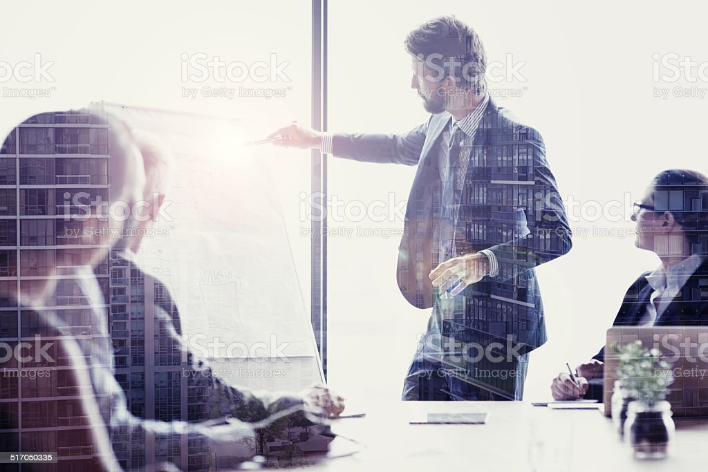Strategy is the key to good business stock photo