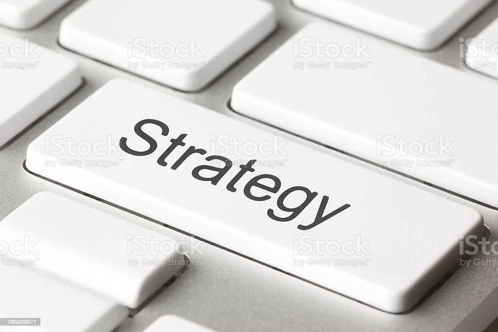 Strategy key royalty-free stock photo