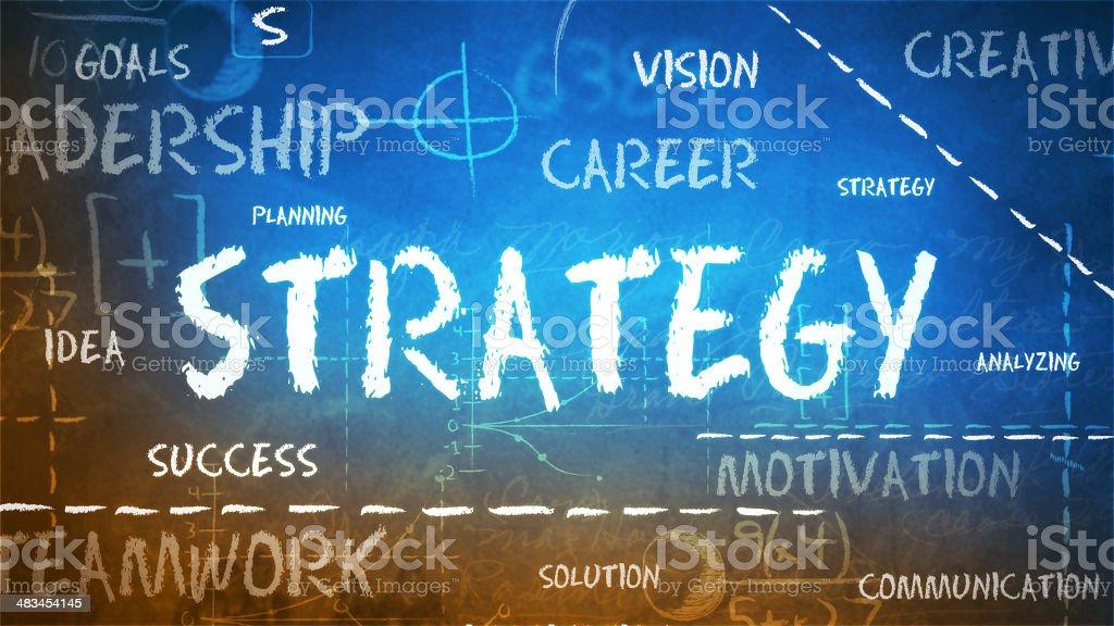 Strategy on a chalkboard royalty-free stock photo