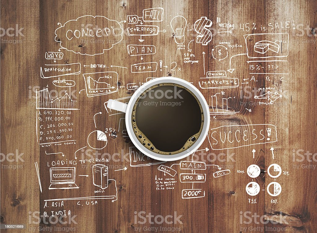 strategy on wooden table stock photo