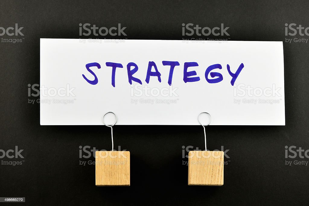 Strategy, One big paper note on black for presentation royalty-free stock photo