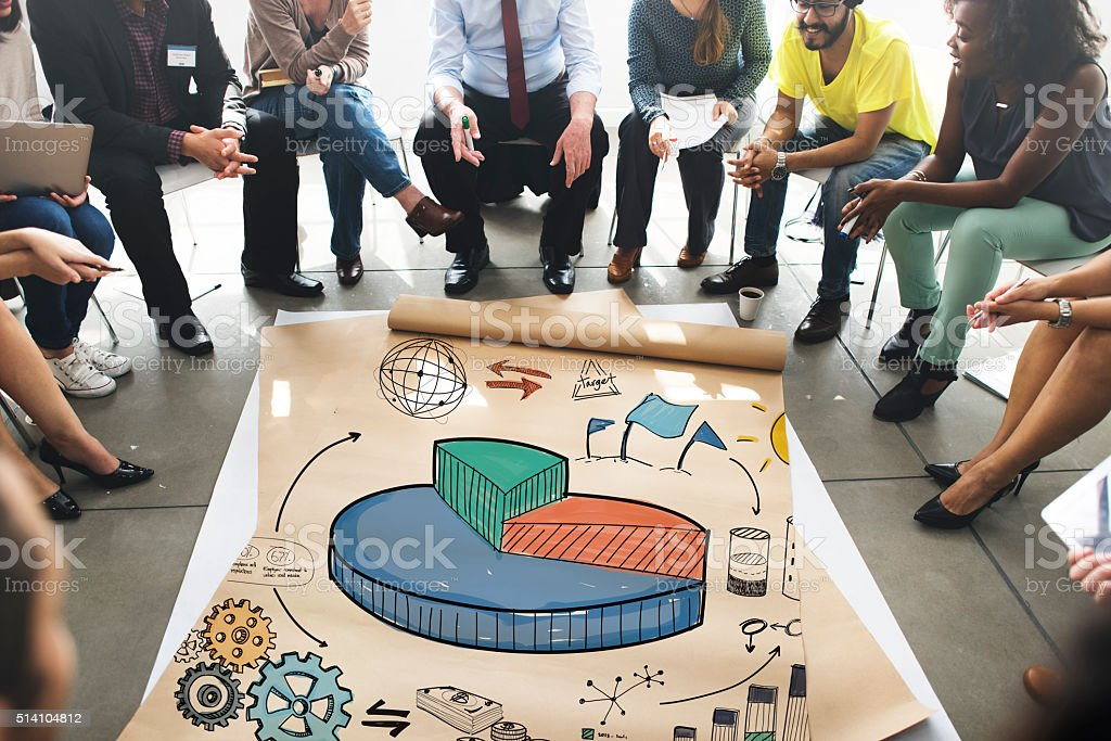 Strategy Plan Marketing Data Ideas Innovation Concept stock photo