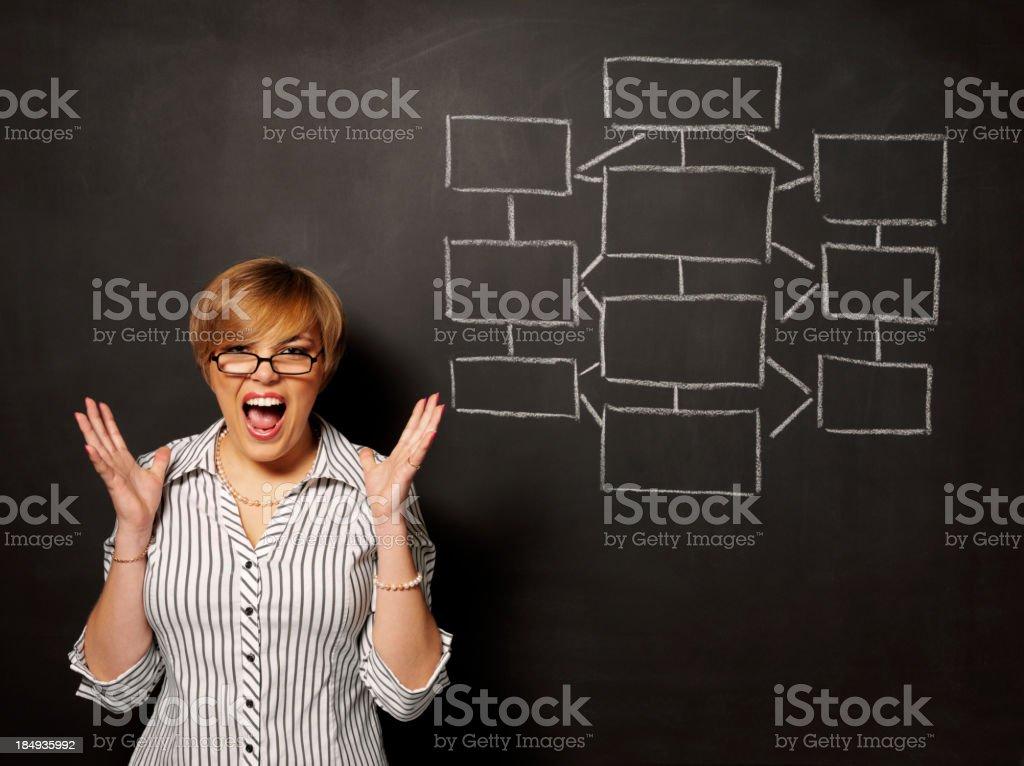 Strategy Plan on a Blackboard royalty-free stock photo