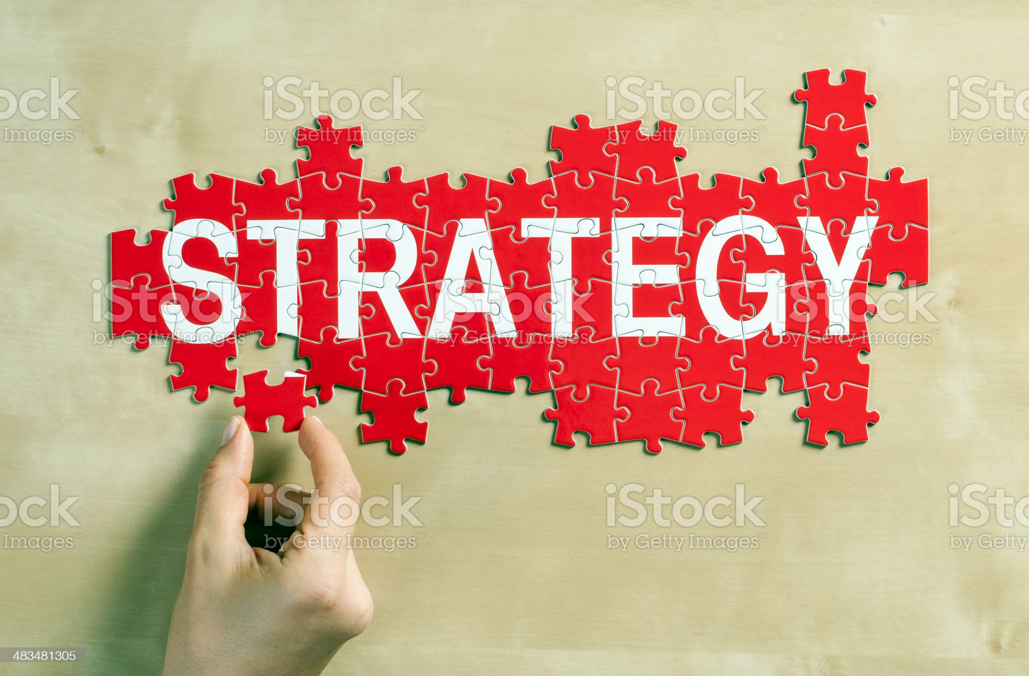 strategy puzzle royalty-free stock photo