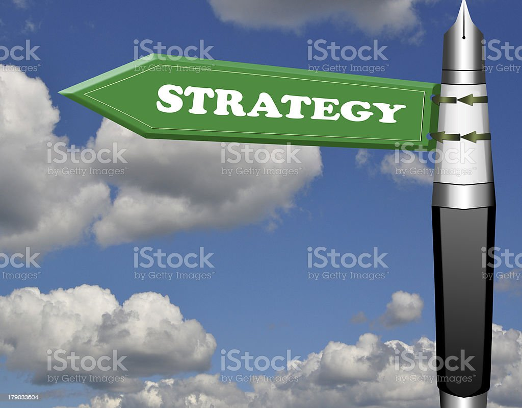 Strategy road sign royalty-free stock photo