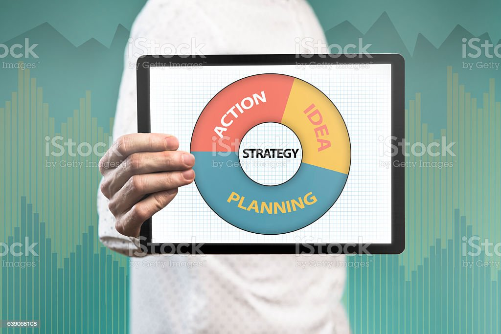 Strategy / Touch screen concept (Click for more) stock photo