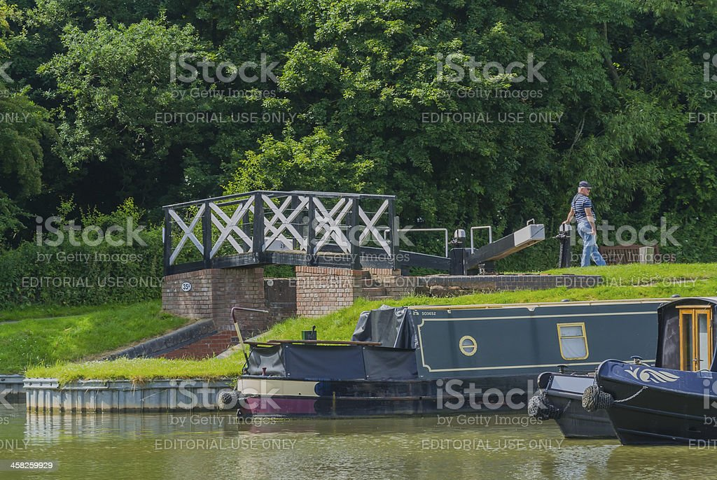 stratford canal royalty-free stock photo