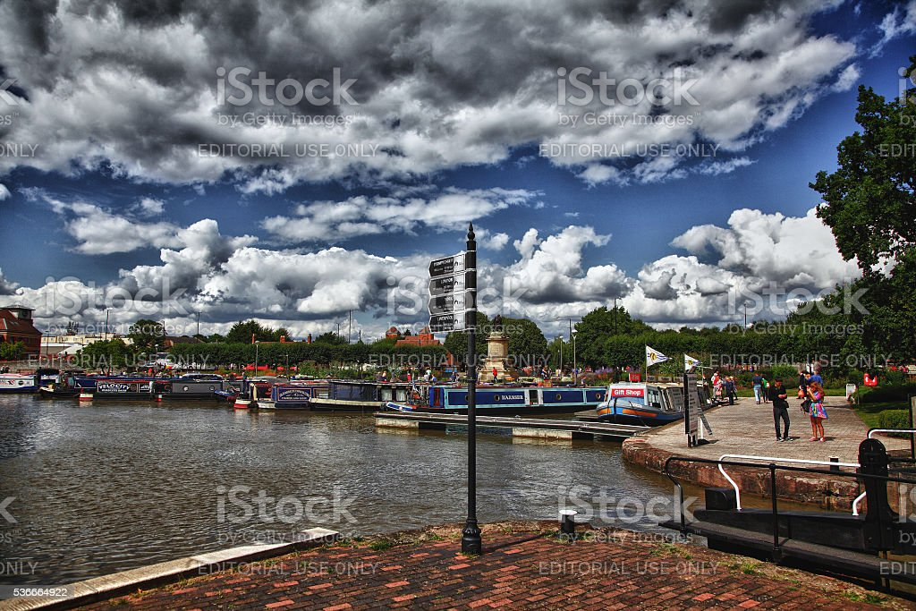 Stratford upon Avon in the summer stock photo