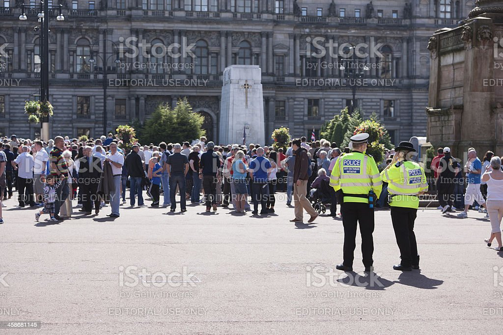Strathclyde Anti-Sectarian Police stock photo