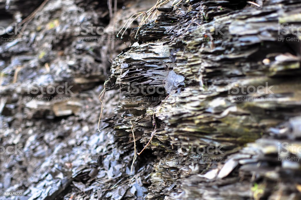Stratified Rock Formation stock photo