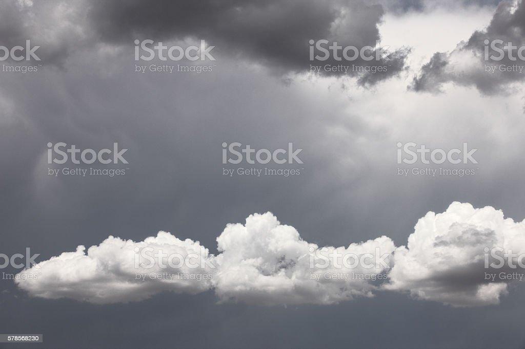 Dramatic cloudscape sky preceding lightning, thunder and hail. Bright...