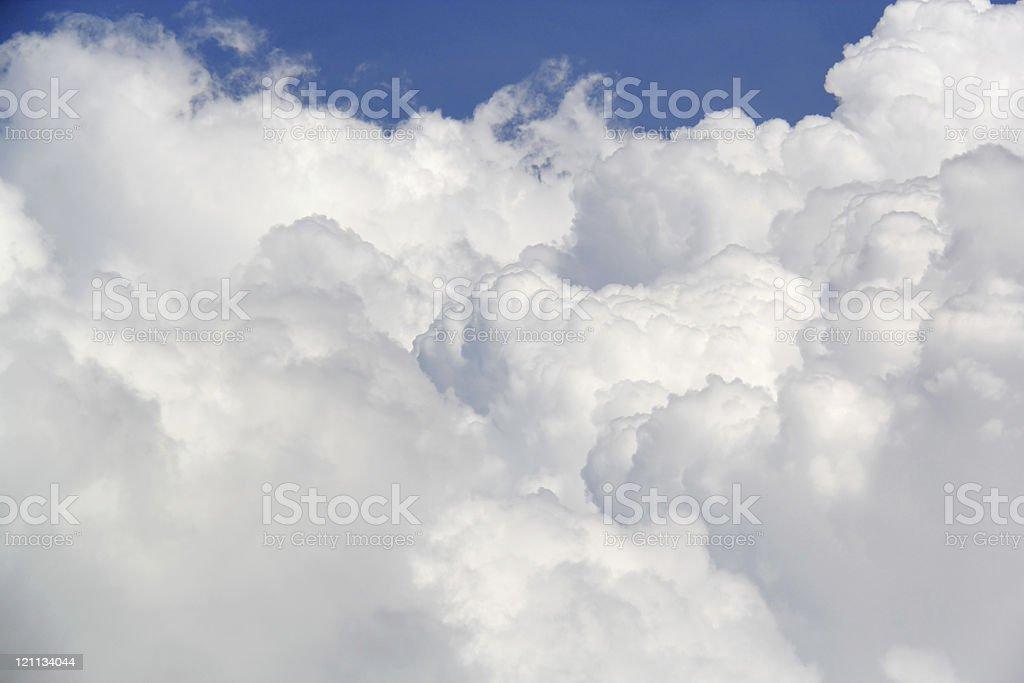 Stratocumulus on blue sky stock photo